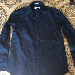 Calvin Klein long sleeve button front shirt men's